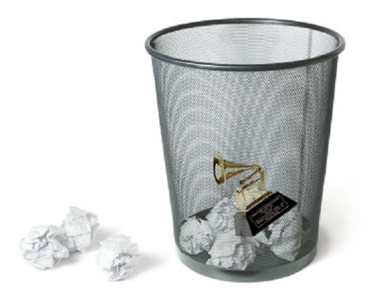 grammy-award-in-the-trash